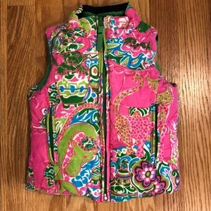 Lilly Pulitzer down vest reversible Size 2
